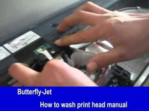 How  to clean and change the print head on Direct to garment printer DTG printer