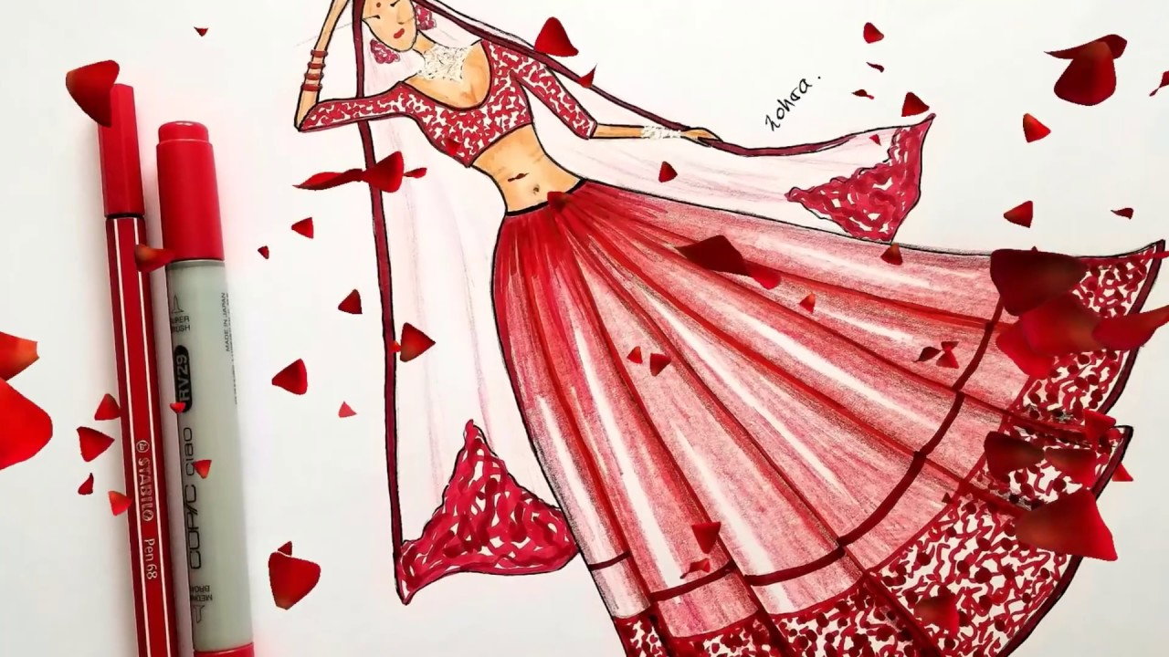 Do You Love Indian Dresses Fashion Drawing Youtube