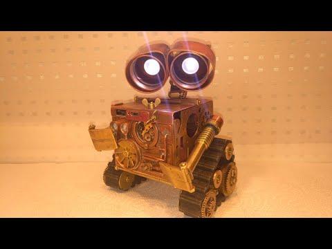 Steampunk. Робот WALL'e в стиле стимпанк.
