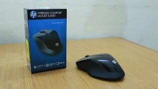 HP X3500 Wireless Comfort Mouse Unboxing & First Look