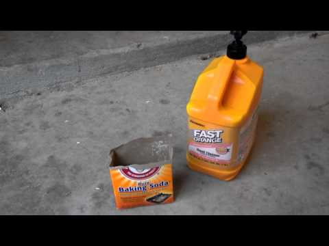 Cleaning oxidized headlights with Orange pumice hand cleaner, baking soda and palm sander