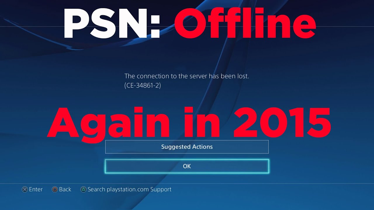 Psn Status Offline Again February  Sony Investigating Outage Issues Youtube