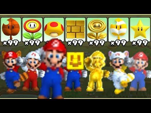 New Super Mario Bros. 2 - All Power-Ups