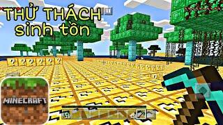 Thử thách sinh tồn mincraft Pe | Trên Hòn Đảo Lucky Block Với Rất Nhiều Đồ !!!!