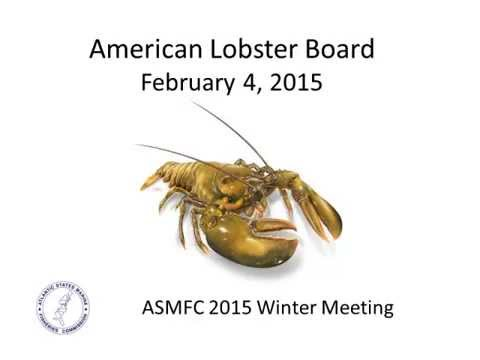 American Lobster Board Proceedings Feb2015