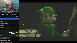 The Legend of Zelda: Ocarina of Time No IM/WW Speedrun in 3:48:15