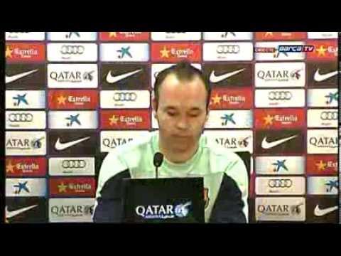 Rueda de prensa íntegra de Andrés Iniesta (2-1-2014) - 동영상