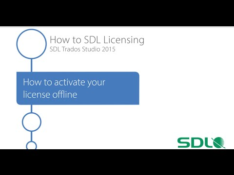 SDL Trados Studio 2015 -  How to activate your licence offline