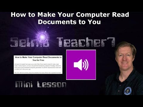 Best Free Text to Speech Apps  Mini lesson on How to Make Your Computer Read Documents to You
