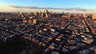 flying with a Drone on south Philly, Italian Market