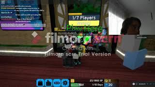 Roblox jogando Flood escape whe frend