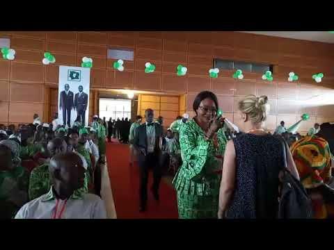 L'arrivée des congressistes au 6ème congrès extraordinaire du PDCI RDA à Daoukro