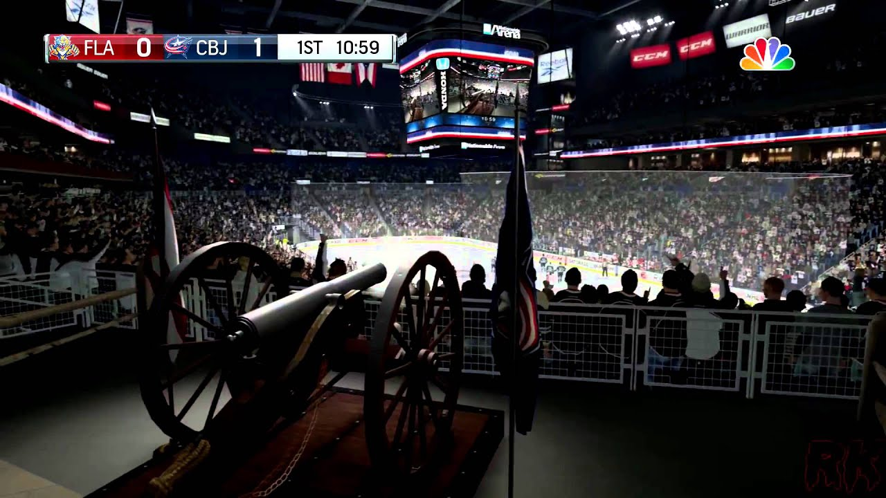 NHL 16 Footage - Columbus Blue Jackets Goal Horn - YouTube