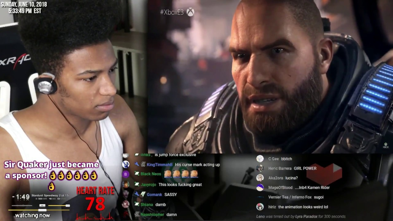 Etika Reacts to  Gears of War 5 E3 Reveal trailer