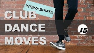 Club Dance Footwork Moves Tutorial part 15 (Intermediate Hip Hop/Shuffle Step)  Heel Toe + Foot Up