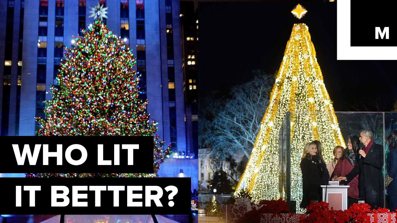 The Ultimate Christmas Tree Lighting Showdown: NYC VS. D.C. - YouTube