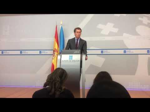 """Feijóo: """"O espectáculo na Deputación de Lugo é lamentable"""""""