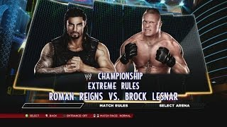Brock Lesnar vs. Roman Reigns in WWE 2K14 - Champion vs. Champion