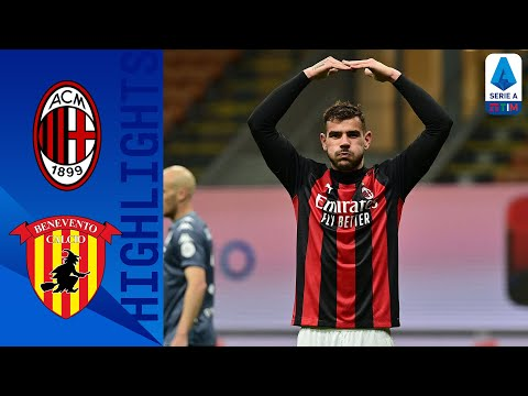 AC Milan Benevento Goals And Highlights
