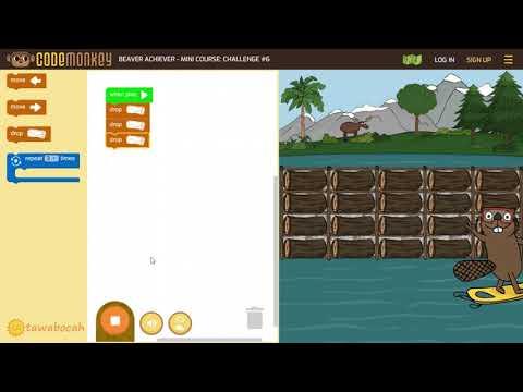 Belajar coding gratis untuk anak SD - 20 menit membantu berang-berang membuat bendungan
