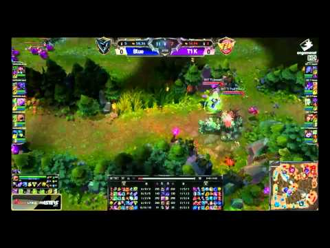 Samsung Galaxy Blue vs SK Telecom T1 K  - Game 1 -  LTE A LoL Masters 2014  week 10