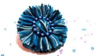 Repeat youtube video Tutorial: Flores de lana. Wool flowers.