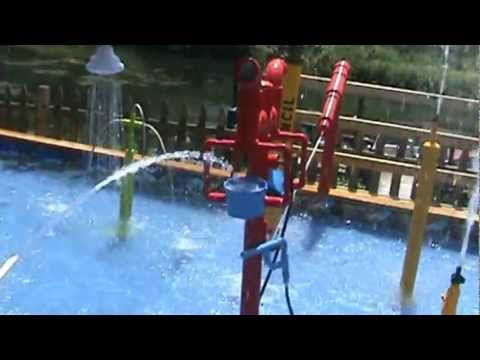 homemade residential water park - YouTube