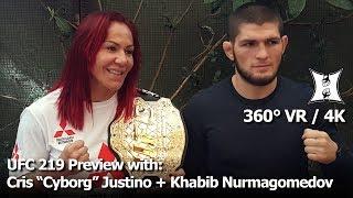 Video (360° VR / 4K) Champ Cris Cyborg + Khabib Nurmagomedov Preview UFC 219 Fights With Holm + Barboza download MP3, 3GP, MP4, WEBM, AVI, FLV November 2018