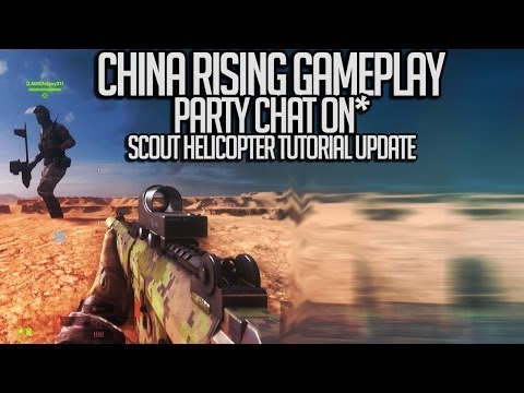 BF4 - China Rising Gameplay | Party Chat On | Scout Tutorial Update [PS4]
