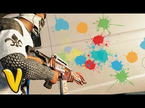 WATCH DOGS 2 PAINTBALL GUN FUN! :: Watch Dogs 2 Human Conditions Funny Moments!