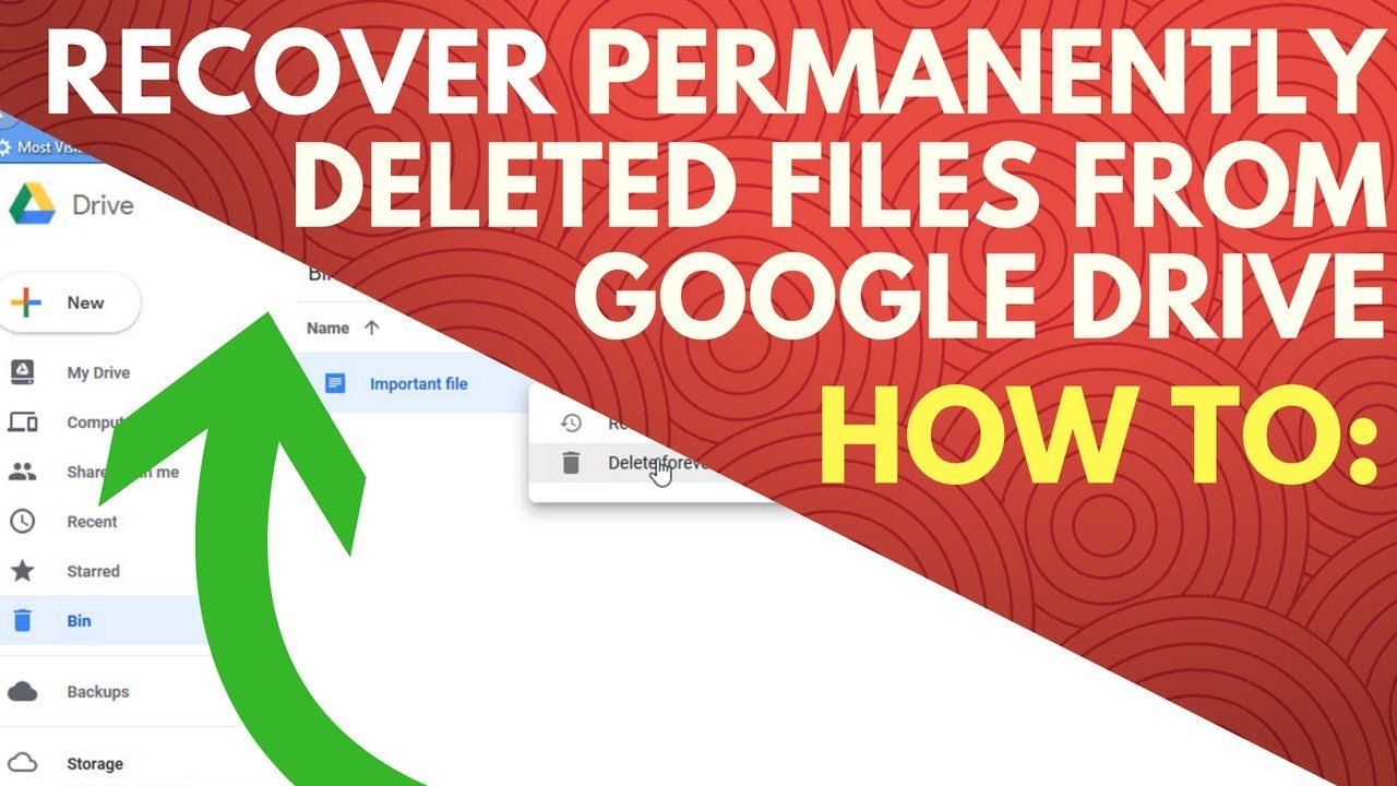 Can i recover deleted photos from my google drive