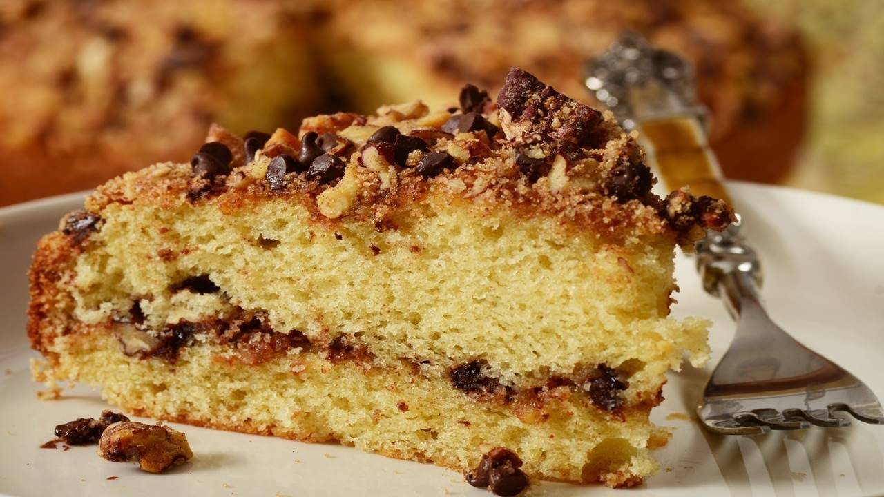 Sour Cream Coffee Cake Recipe With Chocolate Chips