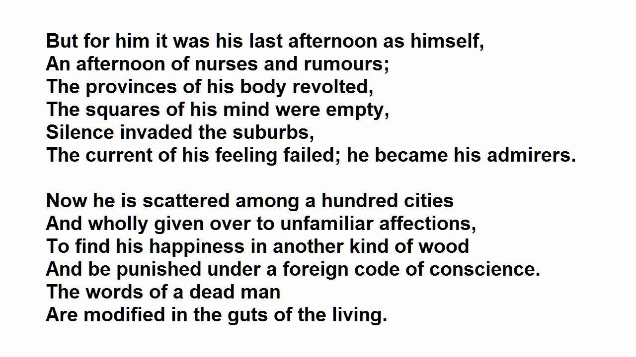 shield of achilles poem
