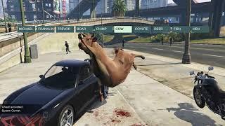 GTA 5- WILL POLICE HIT THE ANIMALS?AMAZING VIDEO