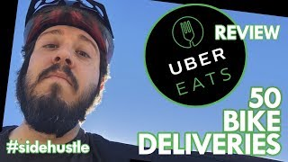 Uber Eats Bike Delivery Review | 50 Rides & 10 Tips
