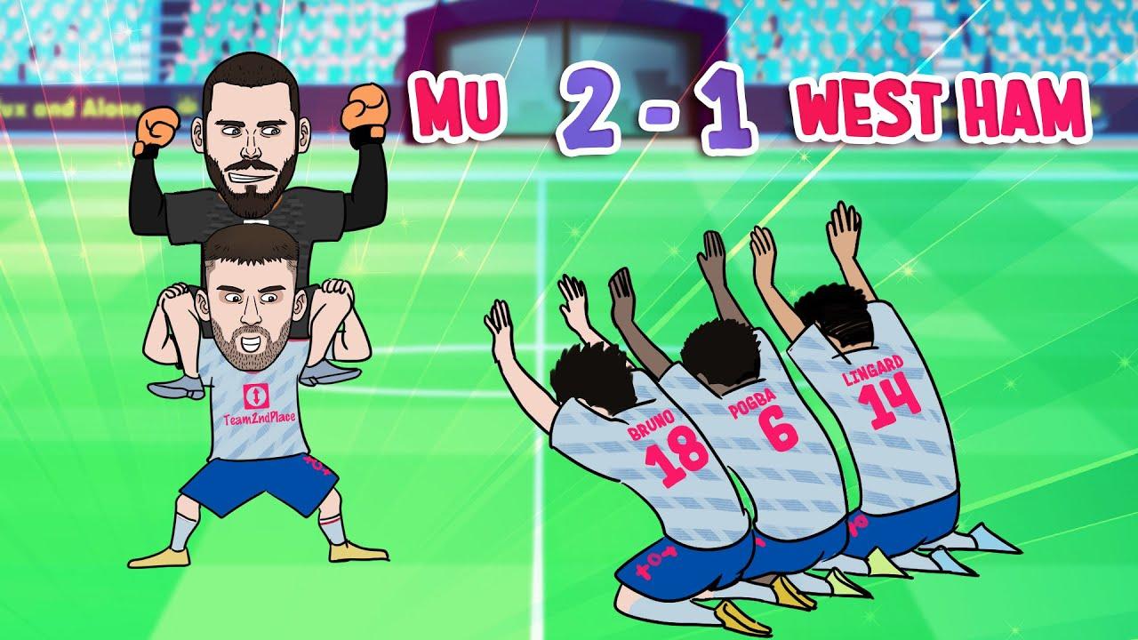 Ronaldo & Lingard Goal -De Gea Wins Dramatic Match For Reds | West Ham 1- 2 Man Utd ⚽ 442oons Parody
