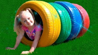 Learn Colors with Colours tires for Kids and children Nursery rhymes songs