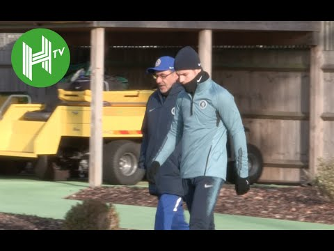 Vidi v Chelsea | Maurizio Sarri leads Chelsea training ahead of Europa League clash