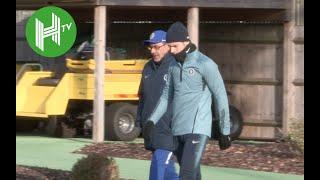 Vidi v Chelsea   Maurizio Sarri leads Chelsea training ahead of Europa League clash