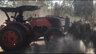 Power Tractor Pushing Dirt Skills - Land Clearing Modern Tractor ត្រាក់ទ័ររុញដីនិងព្រៃ