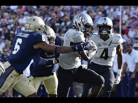 Football Highlights - #20 UCF 31, Navy 21