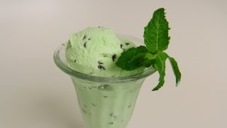 Homemade Mint Chocolate Chip Ice Cream Recipe - Laura Vitale - Laura In The Kitchen Episode 400