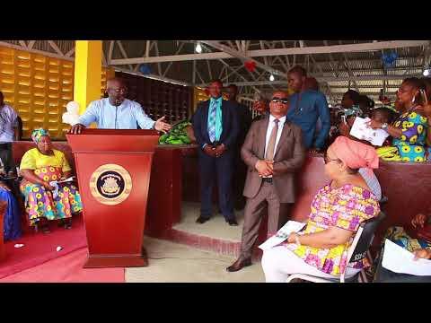 President Weah Dedicates New Rehab Community Market