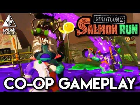 Splatoon 2 Salmon Run Gameplay - Co-op + Epic Bosses