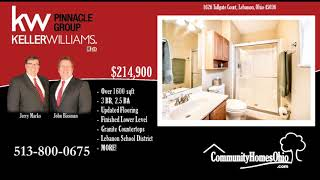 Lebanon OH Home for Sale in Garfield Park  1626 Tollgate Ct, Lebanon, OH 45036