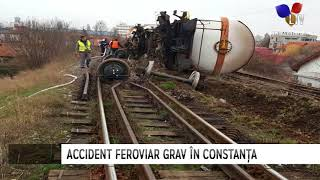 Două vagoane ale unui tren de marfă au deraiat în Constanța - Litoral TV