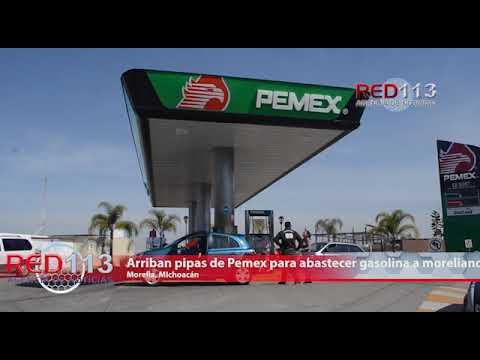 VIDEO Arriban pipas de Pemex para abastecer gasolina a morelianos