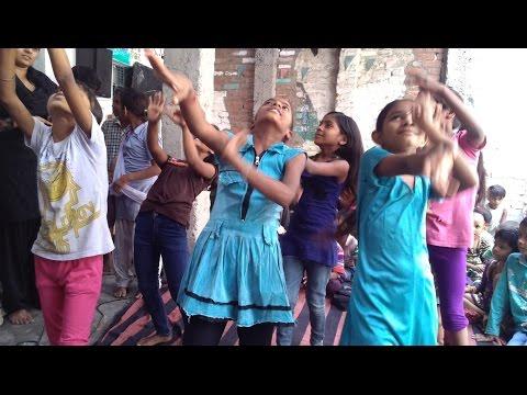 Children Performing Dance in Slum, New Delhi