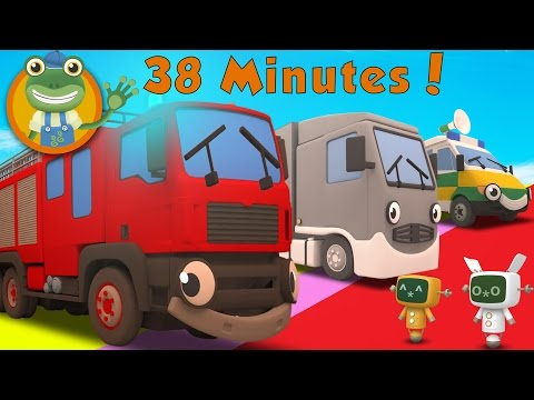 Fiona The Fire Truck and More Big Trucks For Kids | Gecko's Garage