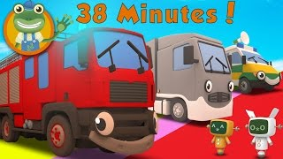 Fiona The Fire Truck and More Big Trucks For Kids | Gecko